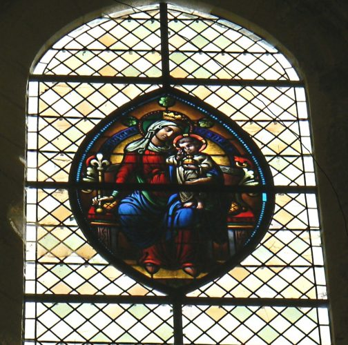 Vitrail du chœur, fenêtre haute est.