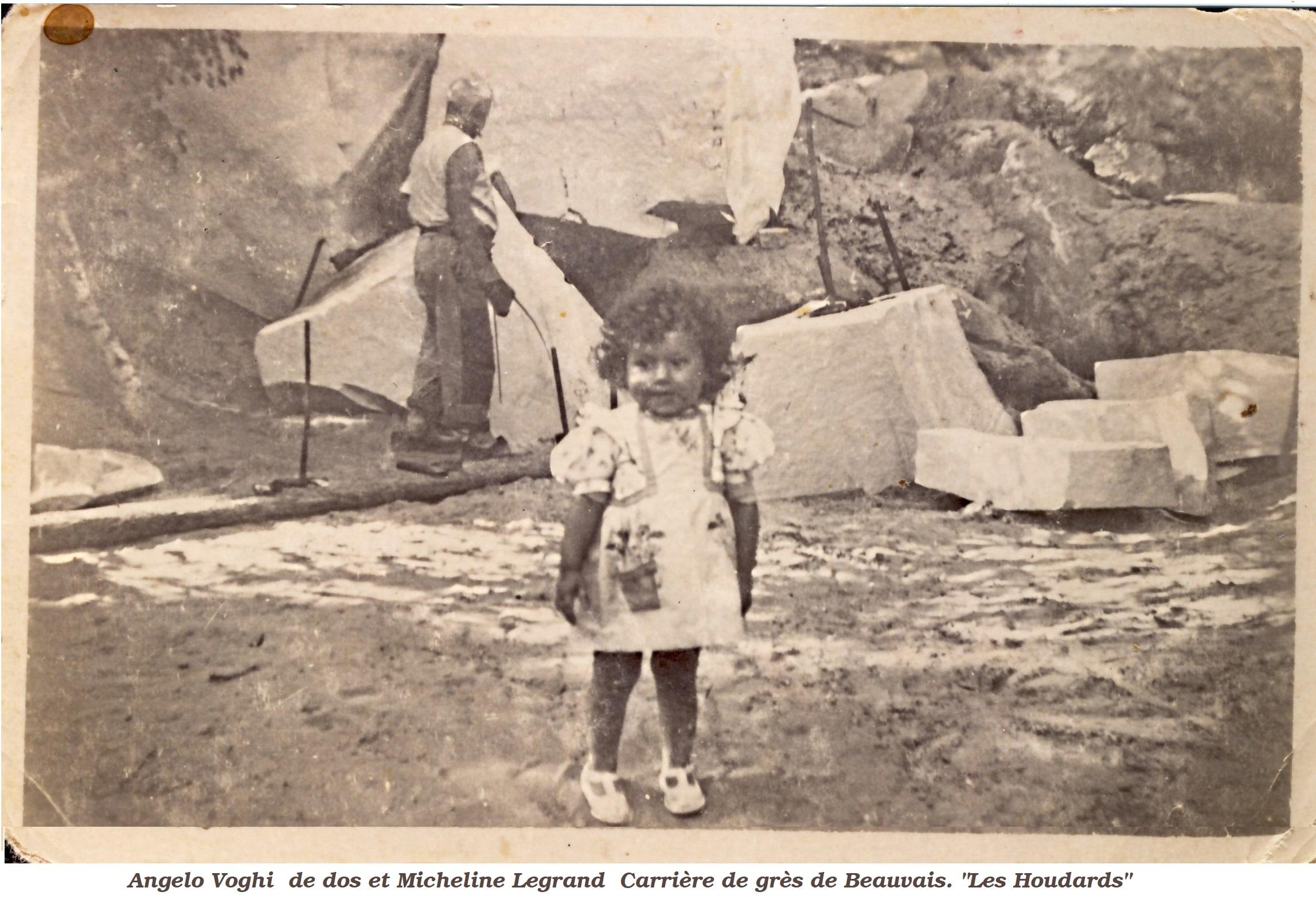 A.Voghi au travail Devant, Micheline Legrand