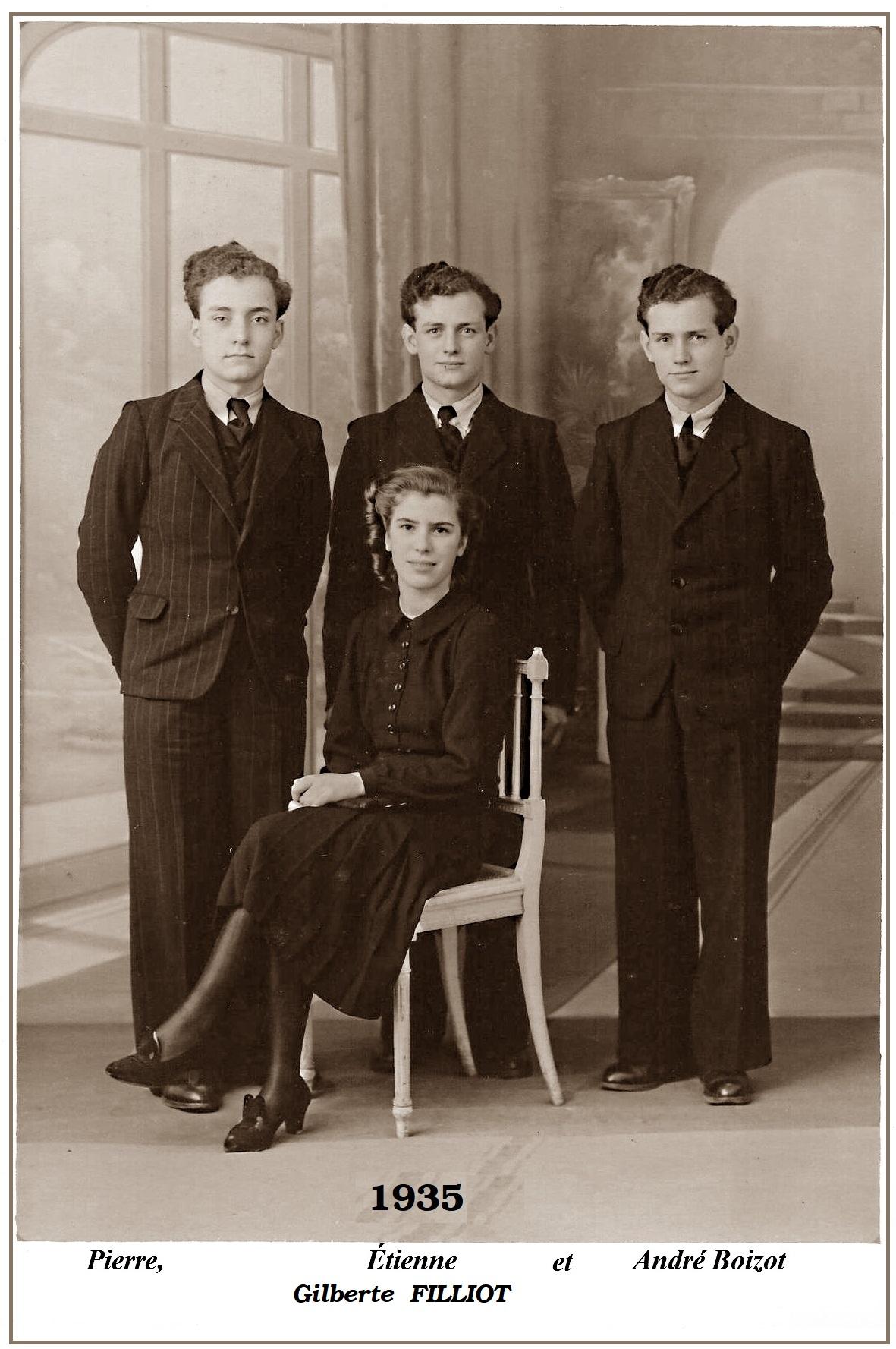 Gilberte et les frères Boizot
